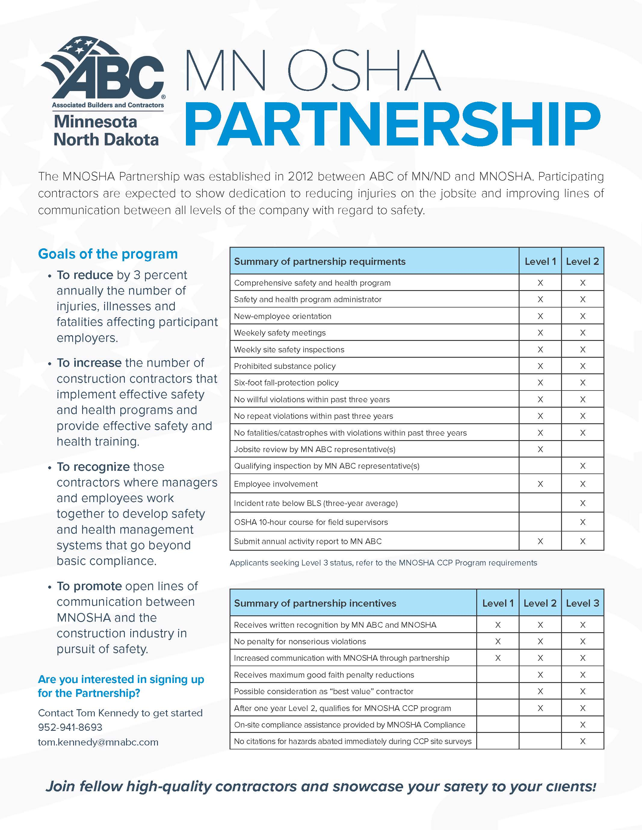 MNOSHA Partnership Flyer